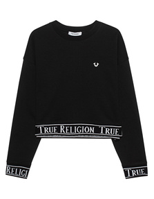 TRUE RELIGION Madison Tape Trim Logo Black