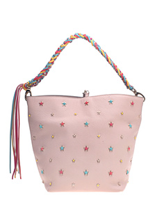 RED VALENTINO Stars Studded Bucket Light Poudre