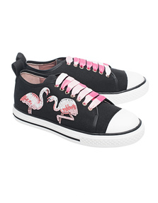 RED VALENTINO Flamingo Embellished Black