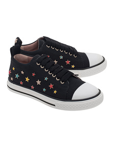 RED VALENTINO Multi Stars Studded Canvas Nero