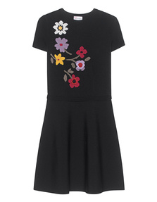 RED VALENTINO Flower Knit Black