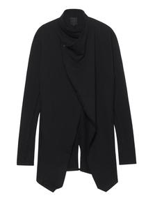 THOM KROM Coat Fringes Black