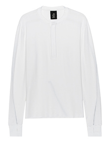 THOM KROM Frotee Buttons White