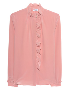 RED VALENTINO Long Sleeves Ruffle Rose