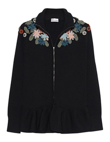 RED VALENTINO Wool Flower Cardigan