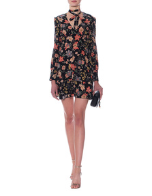 RED VALENTINO Flower Silk Black