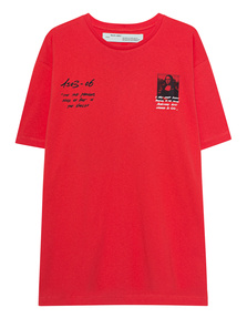 OFF-WHITE C/O VIRGIL ABLOH  Mona Lisa Over Tee Red