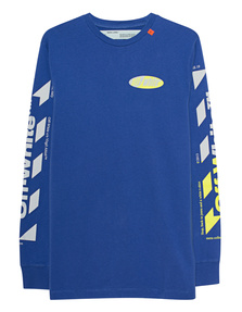 OFF-WHITE C/O VIRGIL ABLOH Diag Split Longsleeve Blue