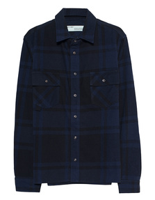 OFF-WHITE C/O VIRGIL ABLOH Flannel Stencil Black