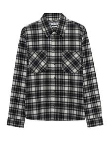 OFF-WHITE C/O VIRGIL ABLOH Allover Check Flannel Black