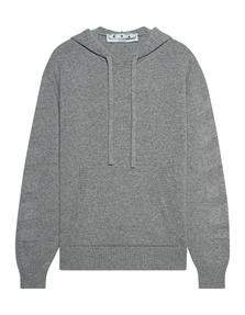 OFF-WHITE C/O VIRGIL ABLOH Cashmere Hood Grey