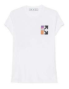 OFF-WHITE C/O VIRGIL ABLOH GRADIENT CARRYOVER FITTED TEE White