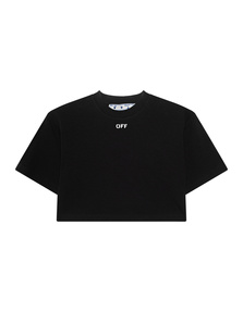 OFF-WHITE C/O VIRGIL ABLOH Rib Cropped Tee Black