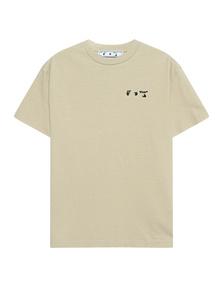 OFF-WHITE C/O VIRGIL ABLOH Logo Reg Tee Beige