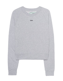 OFF-WHITE C/O VIRGIL ABLOH Daisy Pleat Crewneck Melange Grey