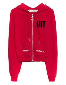 OFF-WHITE C/O VIRGIL ABLOH Big Crop Zipped Red