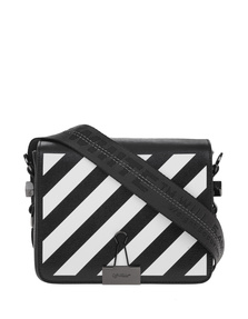 OFF-WHITE C/O VIRGIL ABLOH Diag Flap Bag Black White