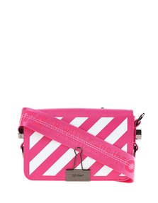 OFF-WHITE C/O VIRGIL ABLOH Diagonal Mini Flap Bag Fuchsia