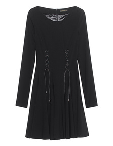 Plein Sud Pleated Dress With Lacing