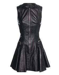 Plein Sud Zip Leather Black