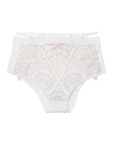 FOR LOVE AND LEMONS Lucia Hi Waist White