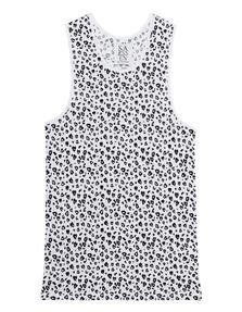 ZOE KARSSEN Leopard All Over Optical White