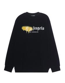 Palm Angels Sweater Sprayed LA Black