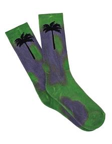 Palm Angels Palm Socks Green