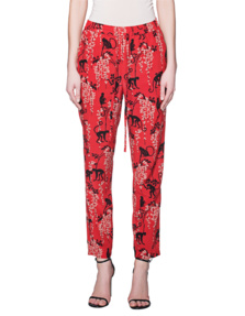 RED VALENTINO Fuoco Pants Silk Red