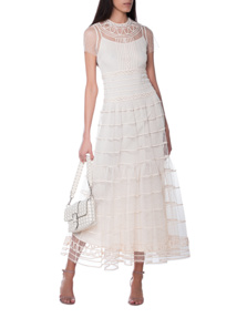 RED VALENTINO Trim Details Maxi Off White