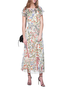 RED VALENTINO Flowing Flower Print Multicolor