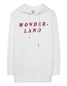 ZOE KARSSEN Boyfriend Fit Hooded Wonder Land White