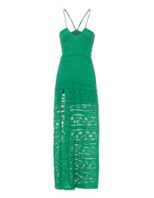 Nightcap Clothing Cherokee High Slit Green