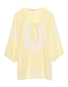Melissa Odabash Rihanna White Yellow