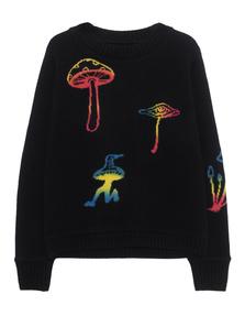 The Elder Statesman Intarsia Regular Sweater Painted Black