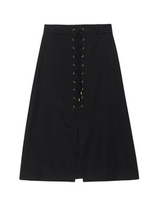 SEA  Lace Up Skirt Black