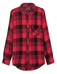 RAILS Checked Rayon Red Black