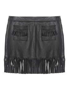 JUST CAVALLI Frayed Patch Jaw Black