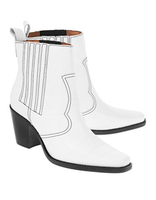 Ganni Callie Leather White