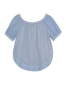 SEE BY CHLOÉ Crop Crinkle Stripe Blue