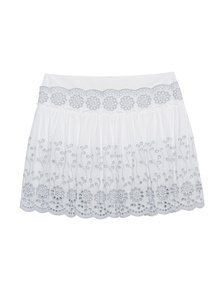 SEE BY CHLOÉ Flared Pleats Lacey White