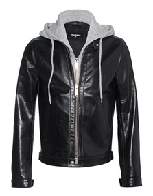 DSQUARED2 Sweater Detail Leather Black