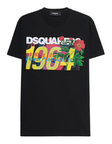 DSQUARED2 Flower Power Print Black