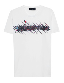 DSQUARED2 Print Art Shirt White