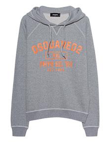 DSQUARED2 Hoodie Orange Grey