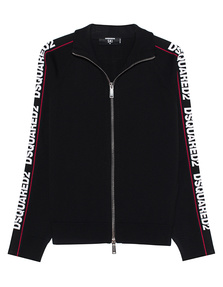 DSQUARED2 Sweat Jacket Striped Black