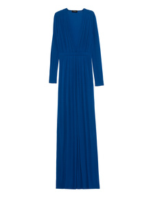 DSQUARED2 Long Dress Deep V Blue