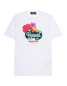 DSQUARED2 Hawaii Print White