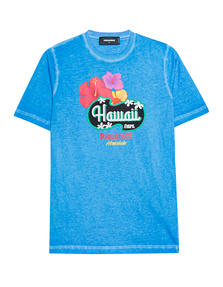 DSQUARED2 Hawaii Print Blue