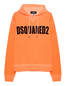 DSQUARED2 Logo Hoodie Neon Orange